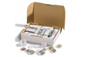 COIN CAPSULES FOR EURO COINS SET/100